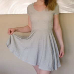 Cream and Gray Dress, size small